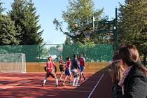 Nový sportovní areál u hotelové školy ve Frenštátě pod Radhoštěm.