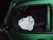 Na silnici v obci Vrchy se srazily osobní automobily Hyundai Pony a Chevrolet Spark.