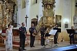 Žesťový kvintet Hudby Hradní stráže a Policie ČR zahrál v neděli 16. června v podvečer v kostele sv. Valentina v Příboře.