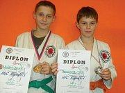 Obě úspěšné závišické naděje. Radek Rýpar (vlevo) a Filip Hanzelka.