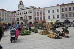 Prázdninový jarmark na Masarykově náměstí v Novém Jičíně.
