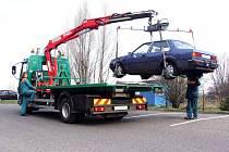 Odtah vozidla. Ilustrační foto.