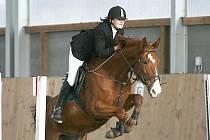 Vítězka hlavní soutěže Zuzana Švihorová na koni Dux 1 z JK Epona Jistebník.