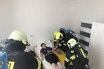 Do cvičení se zapojily tři jednotky hasičů.