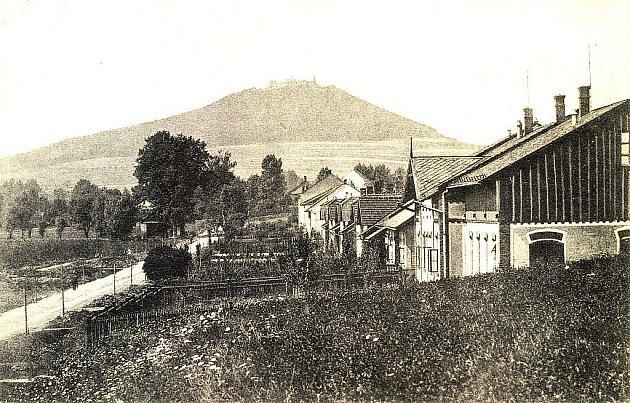 Dnešní ulice Paláckého, která kdysi byla okrajovou částí Nového Jičína.