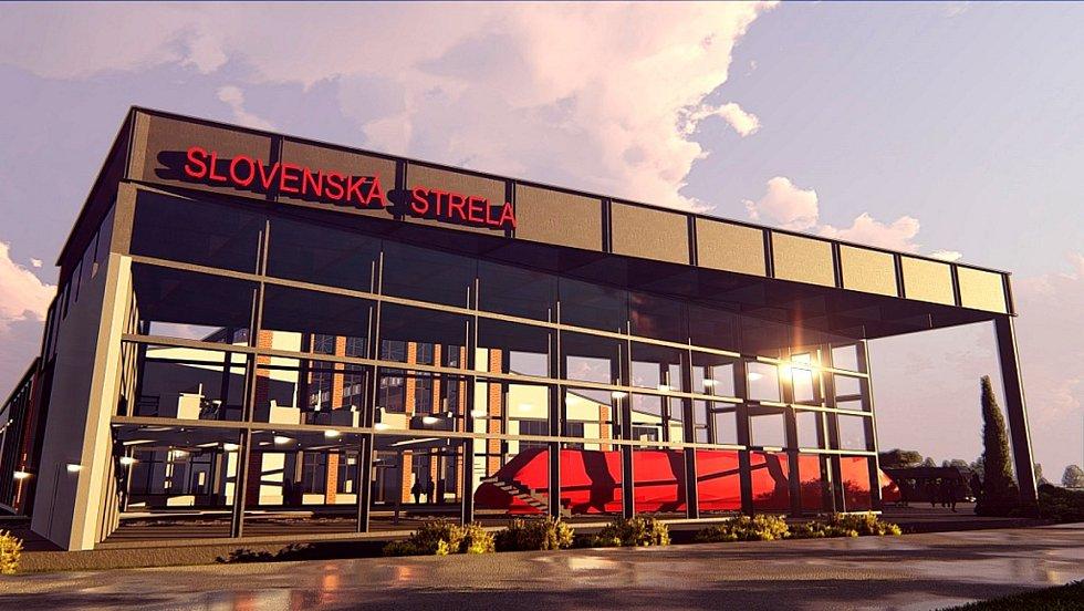Tak vypadá vizualizace nového muzea automobilů Tatra a depozitáře pro Slovenskou strelu.