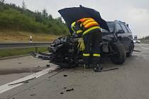 Sobotní nehoda na dálnici D1.