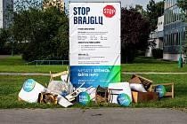 Takto to vypadalo v centru Kopřivnice krátce po zahájení kampaně proti černým skládkám.