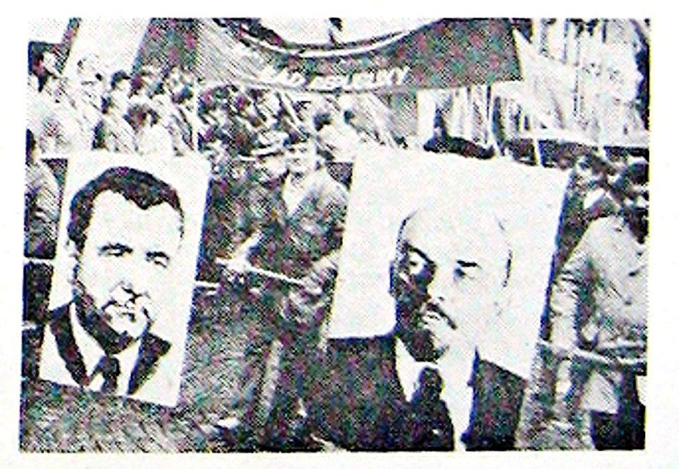 Gottwald a Lenin nechyběli v prvomájových průvodech ani na konci osmdesátých let.