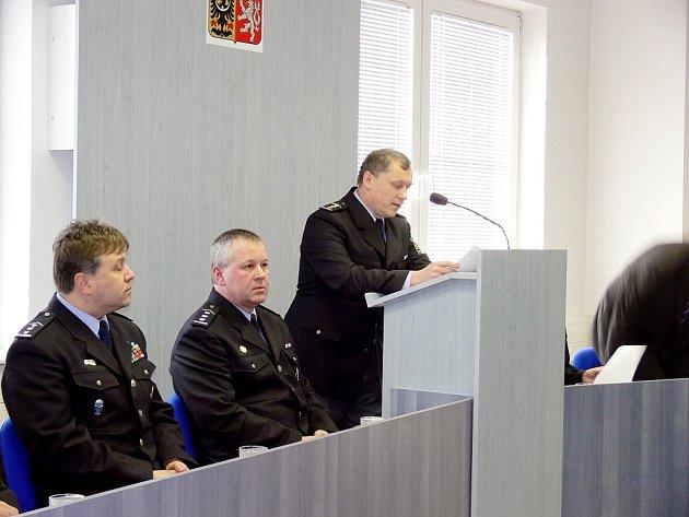 Miroslav Steiner, vedoucí územního odboru kriminální služby a vyšetřování v Novém Jičíně, seznámil přítomné s vývojem kriminality v loňském roce.