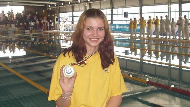 Ploutvařka KVS Laguna Nový Jičín Adriana Malátková zvítězila ve dvou závodech Světového poháru.