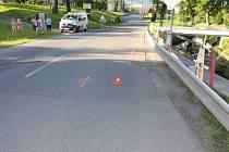Snímek z místa nehody v obci Ženklava.
