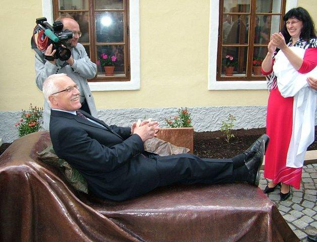 Otevření Freudova domu se zúčastnil i prezident Václav Klaus