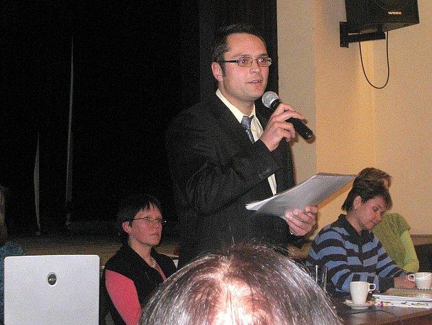 David Plandor byl na veřejném projednání nového konceptu územního plánu slyšet nejvíce.