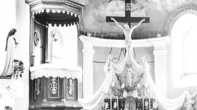 Historické foto kaple v Nové Horce.