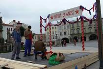 Natáčení filmu Malá princezna na příborském náměstí.