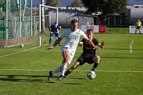 Zápas 10. kola divize F Beskyd Frenštát pod Radhoštěm - MFK Karviná B 1:0 (1:0).