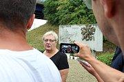 Naděžda Tomčíková. Lidé ve středu 8. srpna 2018 ve Studénce uctili památku obětí železničního neštěstí, ke kterému zde došlo před deseti lety.