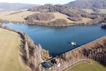 Procházka kolem Větřkovické přehrady.