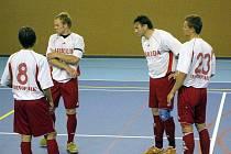 Hráči Tatranu Baracuda Jakubčovice byli v Ostravě úspěšní. Zleva: Kamil Molnár (č. 8), Aleš Michálek, Jaroslav Šesták a David Molnár (č. 23).