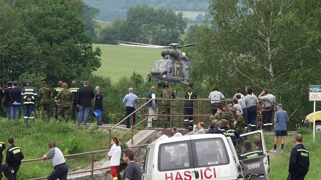 Také na severní Moravu včera dorazilo taktické vojenské cvičení Boleslavská hradba 2007.