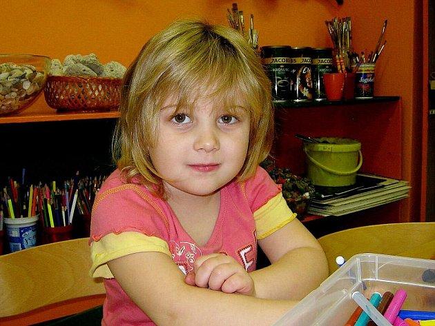 Hanička Maršálková, 5 let, Odry: Nevím. Nejvíce se asi těším na kamarádky.