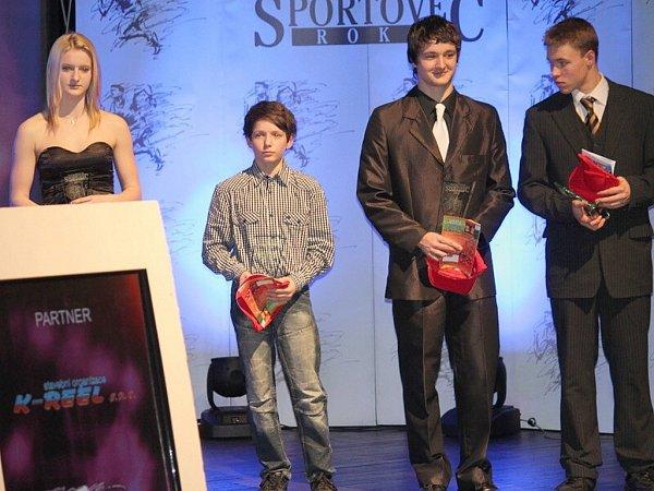 Zleva Nikol Zátopková, Miroslav Vašinka, Petr Španihel a Jakub Jarolím.