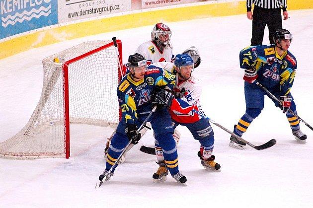 Hokejisté Nového Jičína prohráli na ledě přerovských Zubrů.