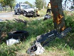 Dopravní nehoda v Tísku.