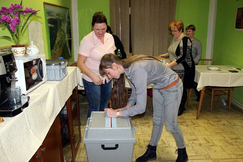 V nejmenší obci na Novojičínsku, v Heřmánkách, odvolila za první den asi třetina voličů.