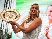 Petra Kvitová při návštěvě Fulneku v neděli 14. července 2014. Na náměstí ji tehdy opět přivítaly davy fanoušků.