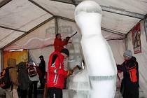 Ledové sochy na Pustevnách. Ilustrační foto.