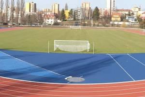 Sportovní stadion v Novém Jičíně v novém.