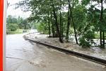 Následky přívalových dešťů na Novojičínsku. Životice