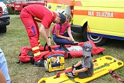Den se záchranáři ve Frenštátě pod Radhoštěm přilákal řadu zvědavců.