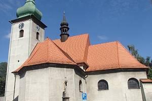 Kostel svatého Martina ve Frenštátě pod Radhoštěm. Ilustrační foto.