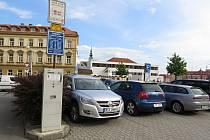 Nový Jičín, výměna parkovacích automatů, květen 2021.