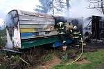 Požár včelína v Suchdole nad Odrou.