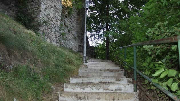 Štramberské schody na Trúbu.