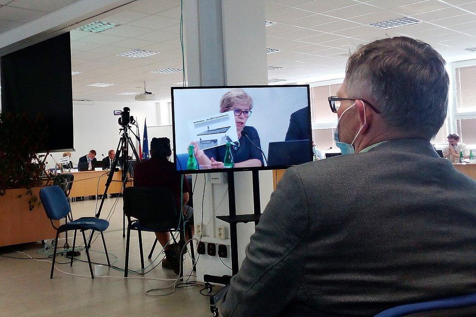 Místostarostka Kopřivnice Dagmar Rysová představila zastupitelům záměr pořízení sochy Emila Zátopka.