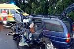Ve čtvrtek 2. září došlo na silnici I/48 u Starého Jičína k nehodě dvou osobních vozidel.