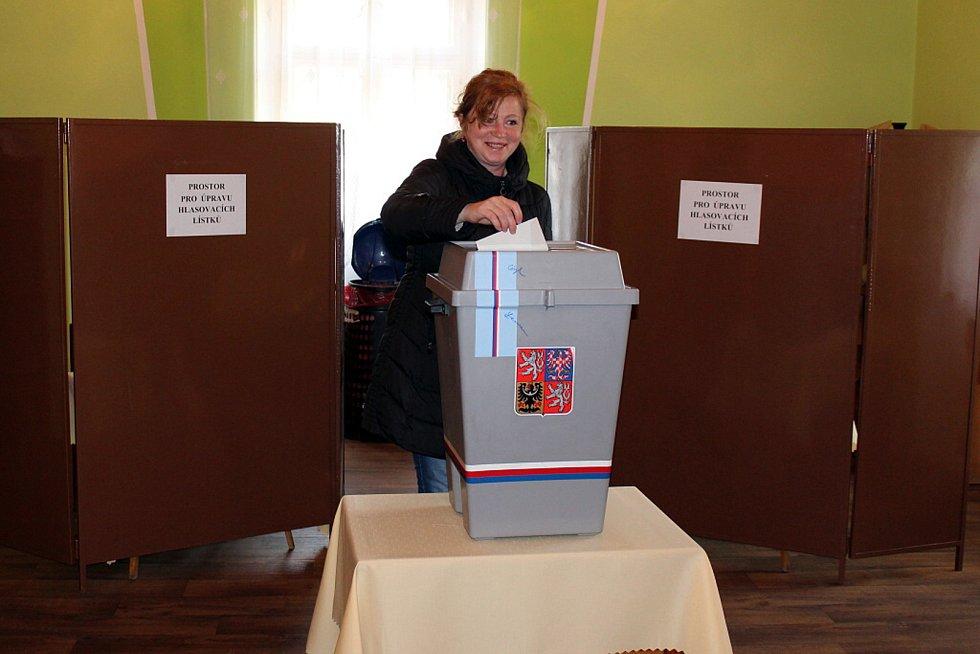 Necelé dvě hodiny před koncem voleb panovala ve volební místnosti v Tiché výborná nálada. Jako by ani nešlo o volbu prezidenta.