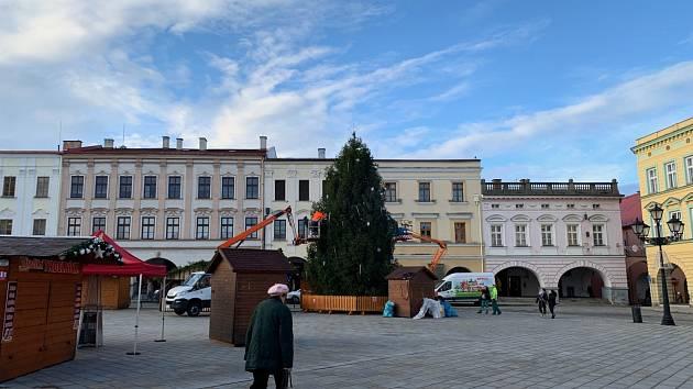 Novojičínské Masarykovo náměstí.
