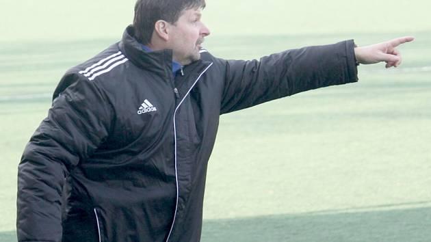 Trenér fotbalistů Nového Jičína Pavel Pumprla.
