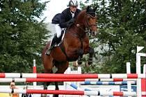 Vítězná dvojice - jezdec Zdeněk Žila s koněm Carlos