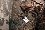 Policejní fotodokumentace k tragickému výbuchu ve Frenštátě pod Radhoštěm.