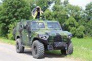 Snímek z představení bojových vozidel vyráběných  šenovským podnikem VOP CZ ve spolupráci se společností NIMR Automotive.