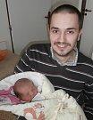 TOBIÁŠ RYCHLÝ s tatínkem, Frenštát pod Radhoštěm, nar. 25. 4. 2016, 50 cm, 4,08 kg. Nemocnice ve Frýdku-Místku.