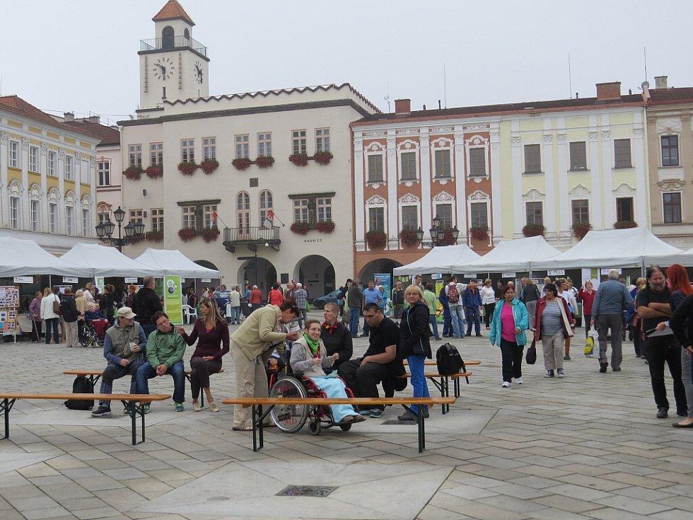 Šestadvacet poskytovatelů sociálních služeb se představilo ve středu na Masarykově náměstí v Novém Jičíně při akci Den sociálních služeb.