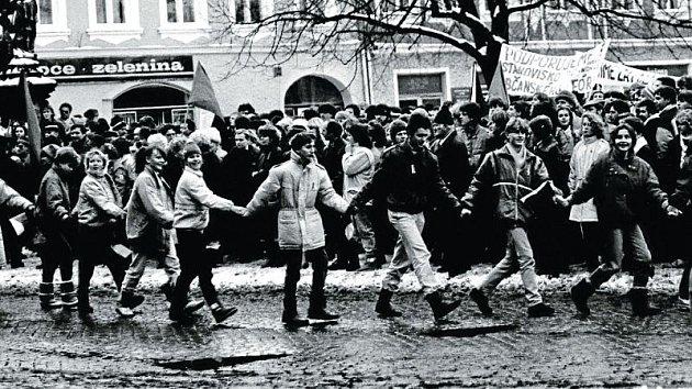 Generální stávka ve Frenštátě pod Radhoštěm přinesla mnoho úsměvů.